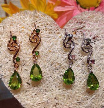 Silver Crystal Earrings Series 2 ∣ 純銀天然晶石耳環系列 2