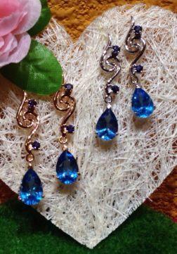 Silver Crystal Earrings Series 1 ∣ 純銀天然晶石耳環系列 1
